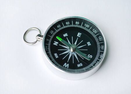 Kompass isoliert auf weißem Hintergrund Standard-Bild