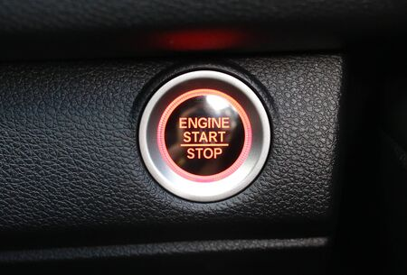 Car engine start-stop button
