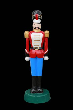 Soldier nutcracker isolated on black background 写真素材