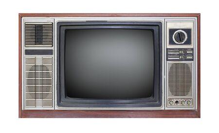 Retro old television isolated on white background 版權商用圖片