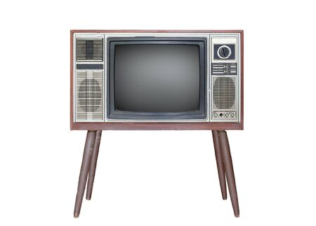 Classic Vintage Retro Style old television isolated on white background