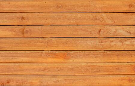 Gepolijste bruine houten plank muur achtergrond. Stockfoto