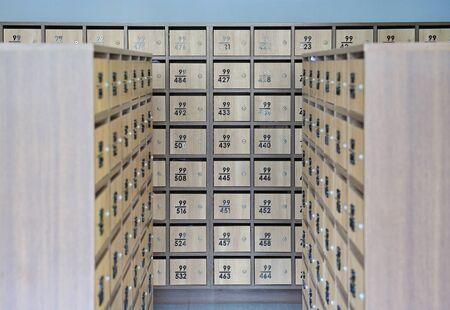 Locker post box or mail box room.