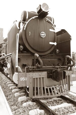 Steam Locomotive, Retro Image Filtered Style Stock fotó