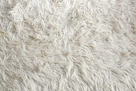 Texture de fourrure artificielle blanche pour le fond