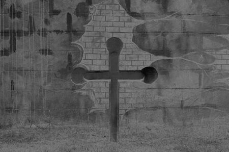gravestone concept background, invert tone Imagens