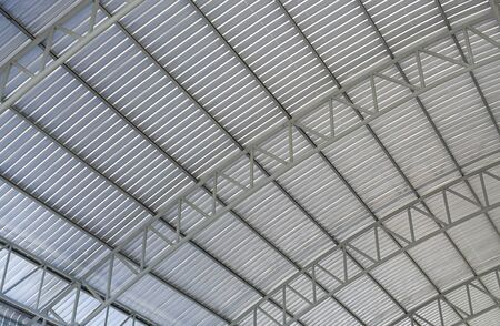 Steel structure, inside of roof construction.