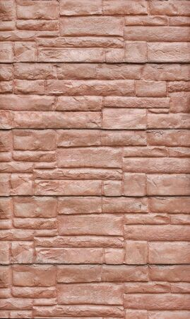 Abstract red stone wall background