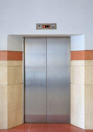 Elevator door lift in the building.
