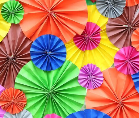 abstract of colorful paper fan for background Фото со стока