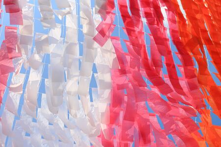 Milti-color paper hanging for decoration background.