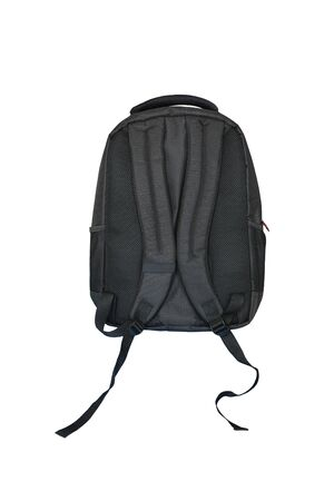 Black backpack isolated over white background.