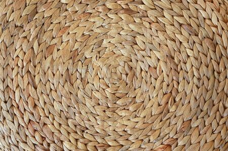 Woven mat texture made from Dry Water hyacinth