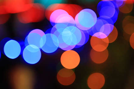Abstract colorful bokeh lights background.