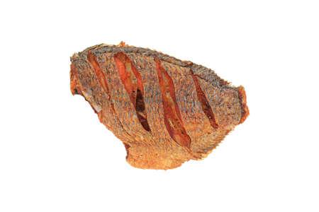 Fried Tilapia fish isolated on white background Stock Photo
