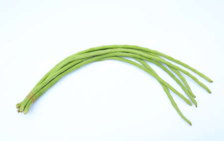 Yardlong bean or Cowpea isolated on white background