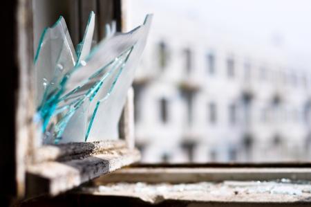 shards: Window, broken, old, shards, glass