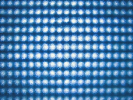 Blue stretch of LED lights