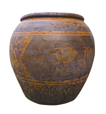 Dragon Jar in Thailand isolated on white background Banco de Imagens