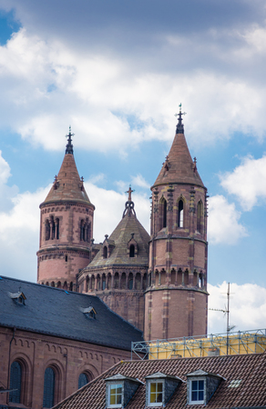 dom: Church tower at  Worms Germany