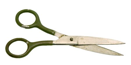 Old scissors on a white background. Stock Photo - 2712984