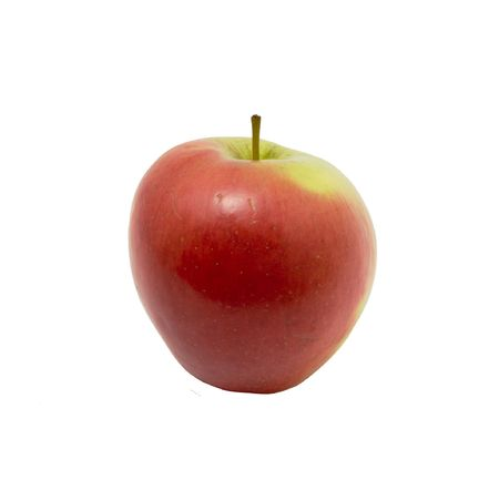Red apple on a white background. Photo. Stock Photo