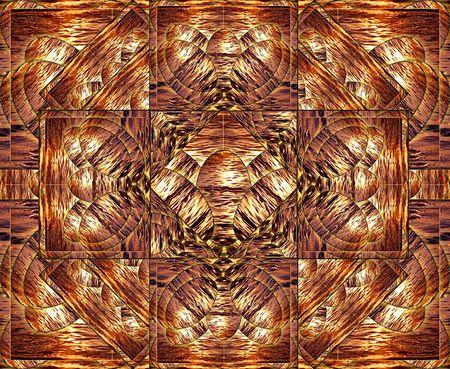 shone: Multilayered solar pattern.  Stock Photo