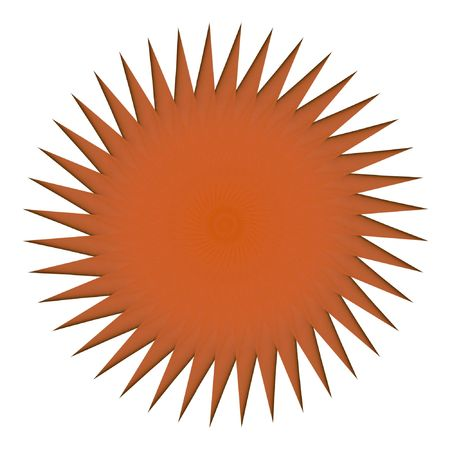Abstract multifinal star with patterns. Photo.