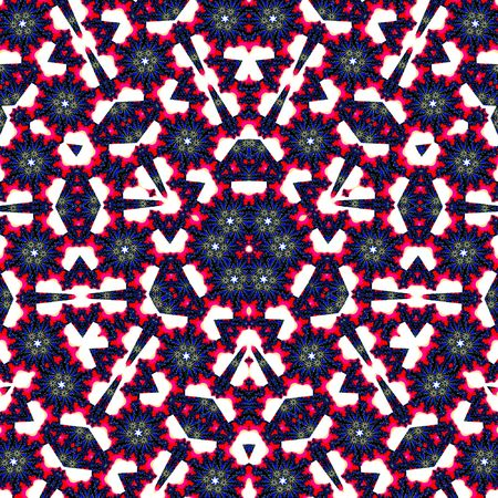 Abstract multifinal star with patterns. Illustration. Stock Photo