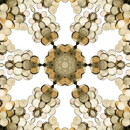 accumulation: Abstract illustration with money. Design.