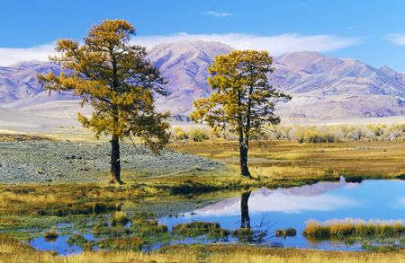 Lake in mountain valley. Photo. Stock Photo - 2935834