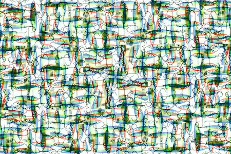 Abstract background made from spoon-bait. Illustration.