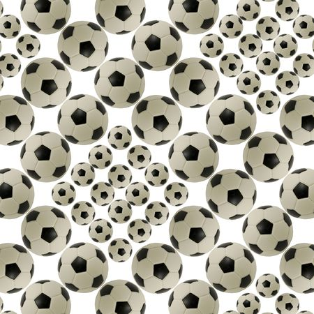 Abstract background made from soccer ball. Illustration.