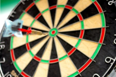 Dart heading for a bulls-eye Stock Photo - 239170