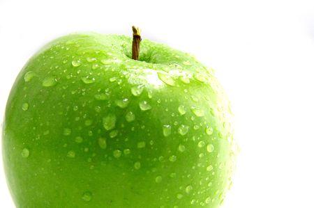 Crisp green apple Stock Photo