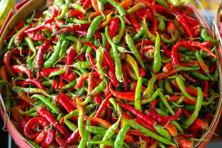 bushel: Bushel of  hot peppers