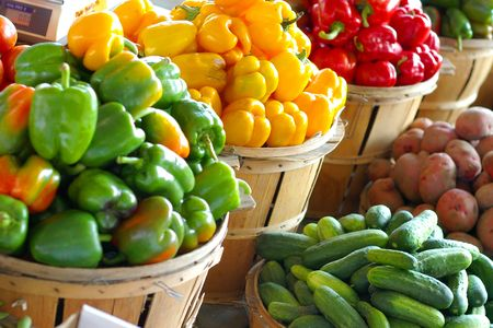 peppers and produce Stock Photo - 249511