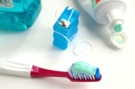 Tooth brush etc Stock Photo