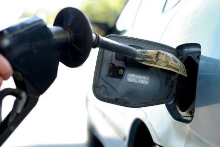 Gas money Stock Photo
