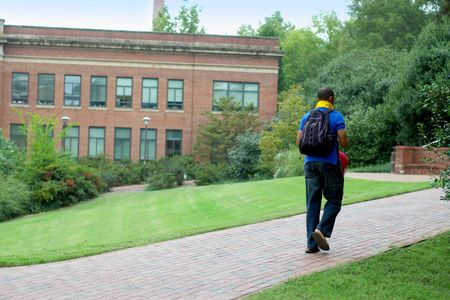 Student on campus Stock Photo - 257155