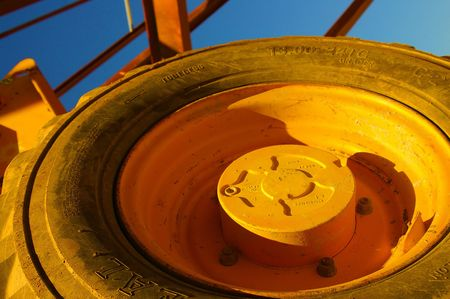 ble: Orange wheel Stock Photo