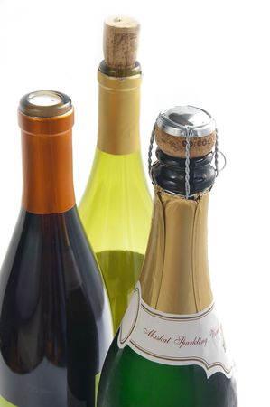 newyears: wine bottles Stock Photo