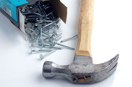 forceful: Hammer and nails