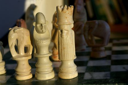 African Chess set Stock Photo