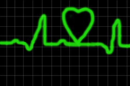 Heart monitor with heart shape