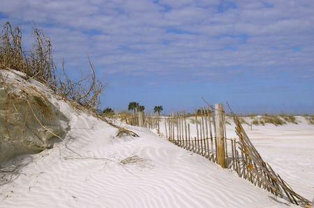 Beach fence and sky Stock Photo - 325696