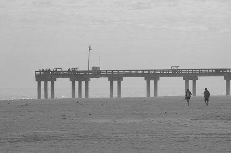 stroll: Beach stroll Stock Photo