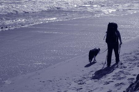 Beach walkers photo