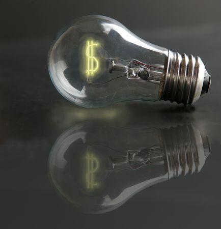 light-bulb money-sign photo