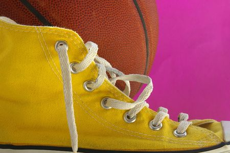 Basketball and sneaker